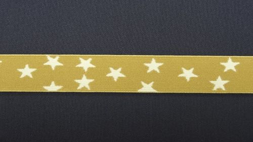 Waist elastic small beige with star
