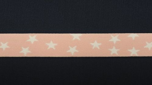 Waist elastic small light pink with  star