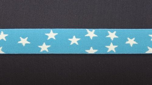 Waist elastic small blue / turquoise with star