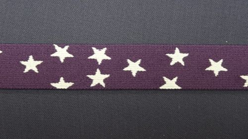 Waist elastic small dark purple with star