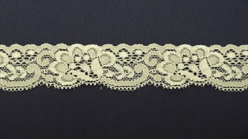 Elastic lace 3 small  light gray