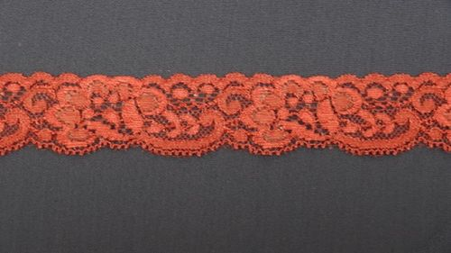 Elastic lace 4 small dark red