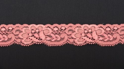 Elastic lace 5 small dark pink