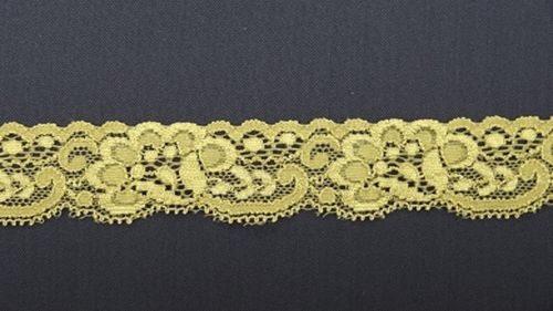 Elastic lace slim yellow