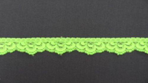Elastic lace 14 small fluoro dark green