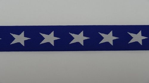 Waist elastic wide royal blue with star