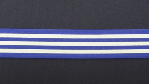 Waist elastic wide royal blue with stripes