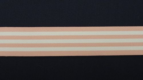 Waist elastic wide light pink with stripes