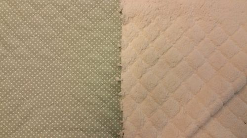Quilted teddy mint green with dot