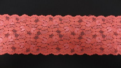 Extandible lace fluoro pink