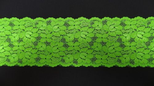 Extandible lace fluoro green