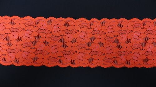 Extandible lace fluoro orange
