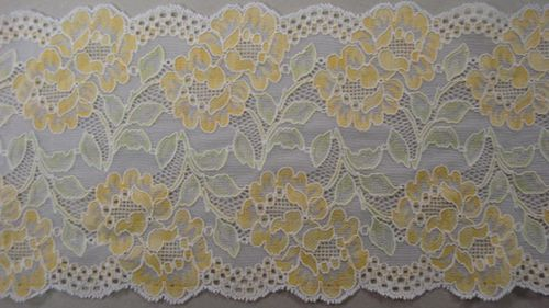 Knitted lace yellow