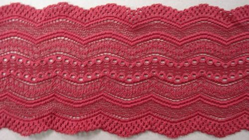Knitted lace bordeaux