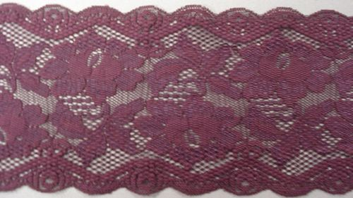 Knitted lace eggplant
