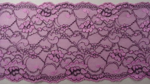 Knitted lace purple