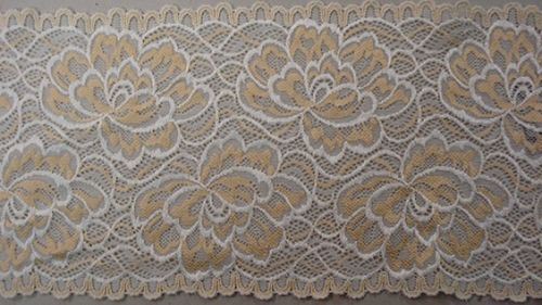 Knitted lace ligth beige