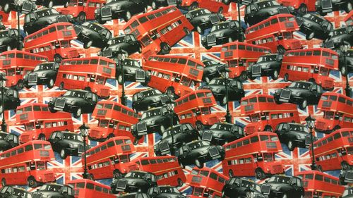 Digitale print Londen busses and cabs