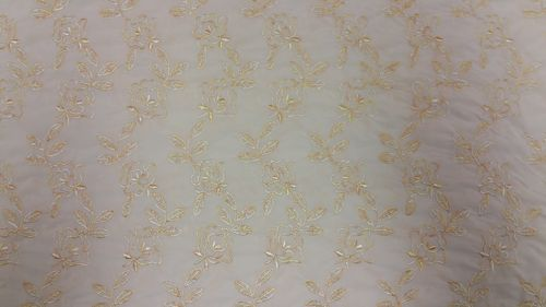 Lycra middle beige with real embroidered lycra