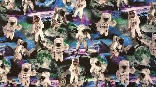 Digitale print space walk