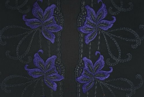 Tulle lace 46 Black/Royal blue