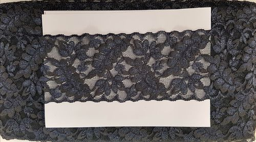 Elastic lace small 15 dark gray