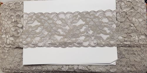 Elastic lace small 16 Siver gray