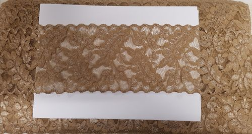Elastic lace small 26 Ecru