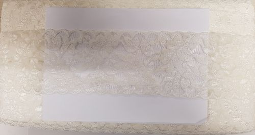 Elastic lace 27 small Beige