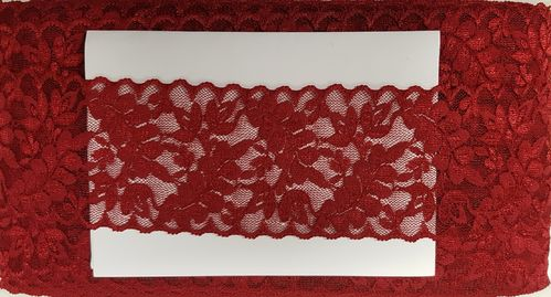Elastic lace small 25 dark red