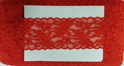 Elastic lace small 24 Red