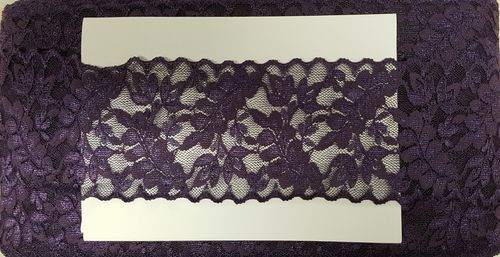 Elastic lace small 22 Purple