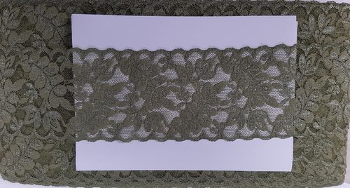 Elastic lace small 17 Olive green