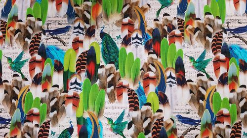 Digitale print Feathers and Birds 256