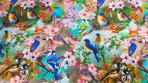 Digitale print 270 Tropical Birds