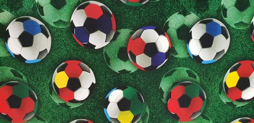 Digitale print Coloured Football