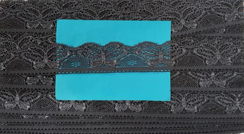 Elastic lace small 38 Dark Grey