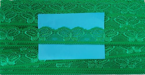Elastic lace small 36 Green