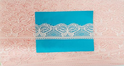 Elastic lace small 32 Pink