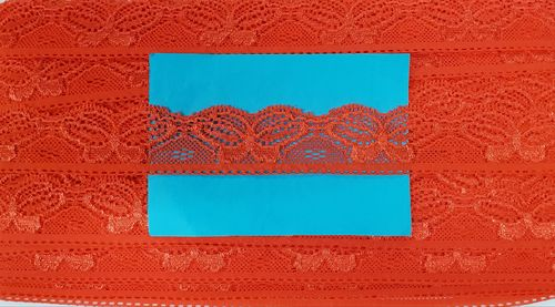 Elastic lace small 31 Red