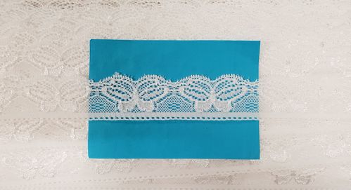 Elastic lace small 29 wit