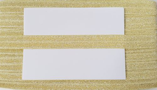 elastic fold lurex wide 8 Yellow