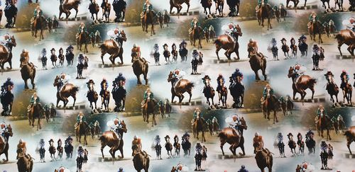 Digitale print Horse race 335