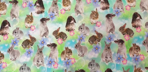 Digitale print Rabbit green 339