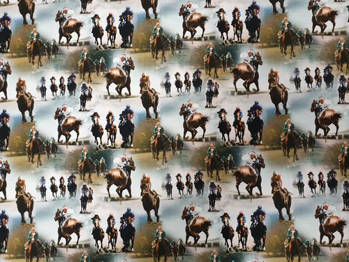 Digitale print Horse race 357