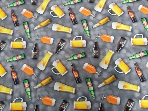 Digitale print 371 Beer grey