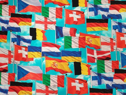 Digitale print 376 Flags