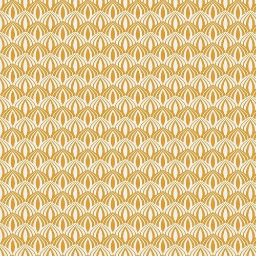 Katoen 23 Poplin print Feeling like spring Yellow